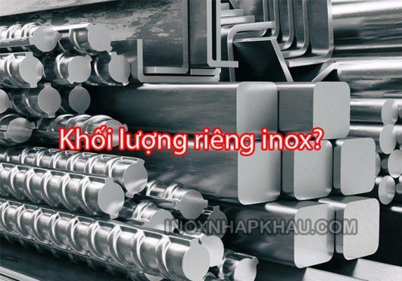 khoi luong rieng inox